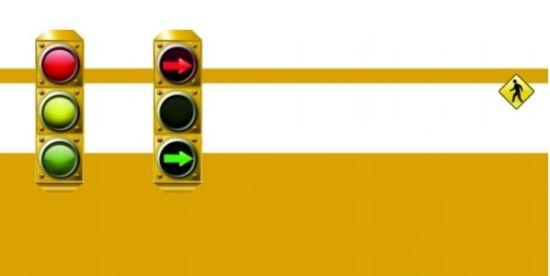 很多路口红绿灯发生变化:右转弯的箭头信号灯被取消