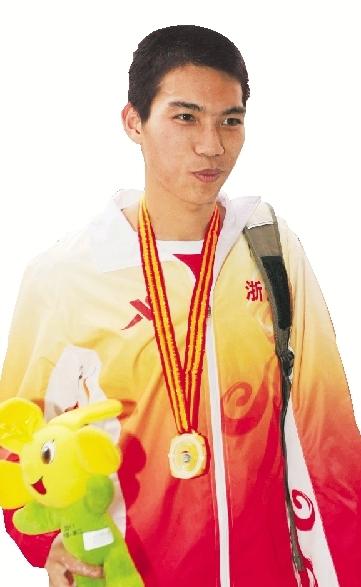 万米跑金牌得主李朝燕。黄佳健 摄