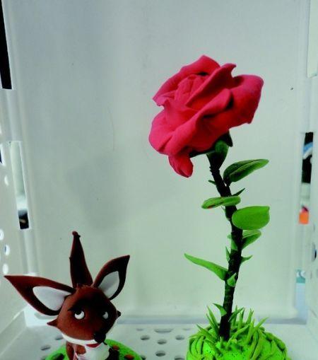彩泥玫瑰图片及步骤