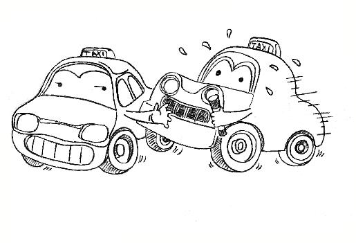 车子创意插画手绘