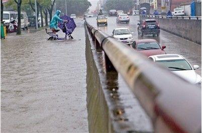 温州龙霞积水成河