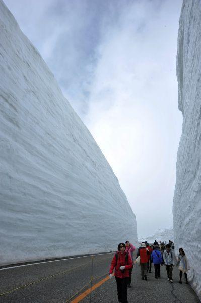 4月15日——6月15日阿尔卑斯山脉高达20米的雪壁劈路迎客