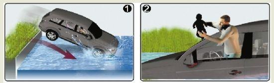 7月27日,萧山公安、消防联合举行了一场汽车水下逃生实验,真人、真车、真落水,目的就是希望能够增加汽车落水后的逃生经验。   前天夜里,在萧山,再次发生真人、真车、真落水,不过这次不是实验演习,而真的是一场意外,万幸的是车主小孙临危不乱,不仅自己顺利逃生,还在车子彻底下沉前,将车上两个孩子和妻子救了出来。   小孙战胜的是水,而临安的老张战胜的是火。   前天晚上7点多,老张和两个朋友开着面包车从临安去余杭,不料途中车子发生自燃,老张和朋友果断逃生,捡回一命。   昨天下午,分析这两起死里逃生的案例