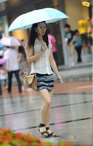 中国美女最多城市街拍妹子美腿成灾