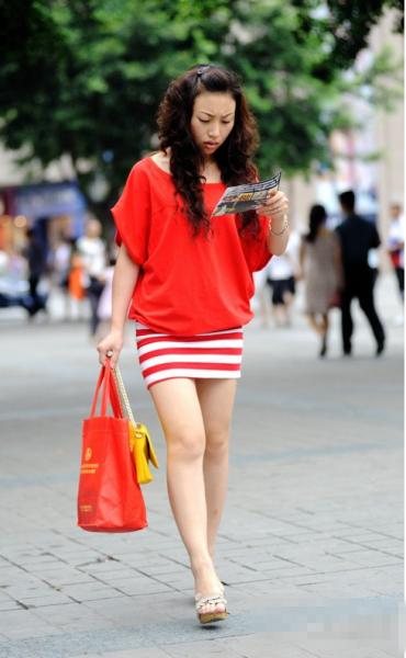中国美女最多城市街拍