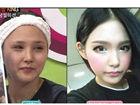 韩国网络美女卸妆大对比