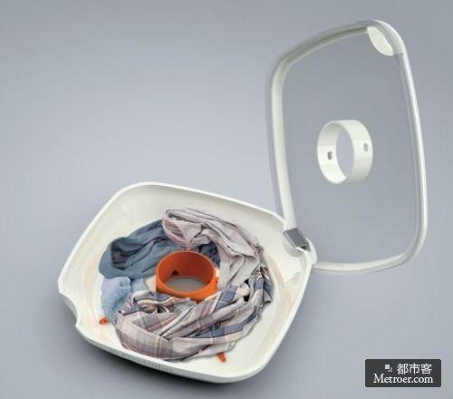 磁悬浮洗衣机使用超声波清洗衣物