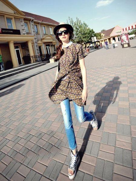 组图:杭州小资女天凉街搭有高招时尚不停