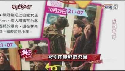 陈冠希与22岁女友公园摸黑约会同回饭店(附图)