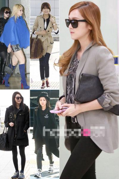 组图:韩国女明星教你最近怎样穿保暖又时尚