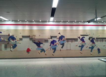 客运中心站艺术墙(点击更多高清美图)