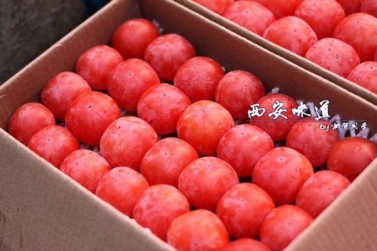 火晶柿子果实色红如火