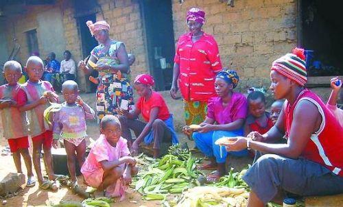 喀麦隆一个男人三四个老婆很平常