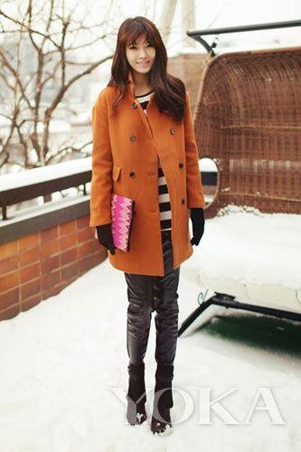 组图:雪天韩范儿淡定style做第一眼美女