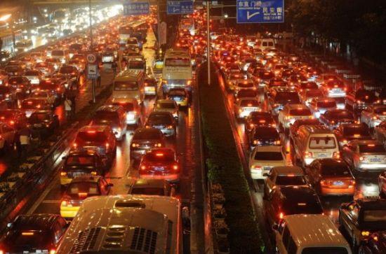 北京拥堵的交通