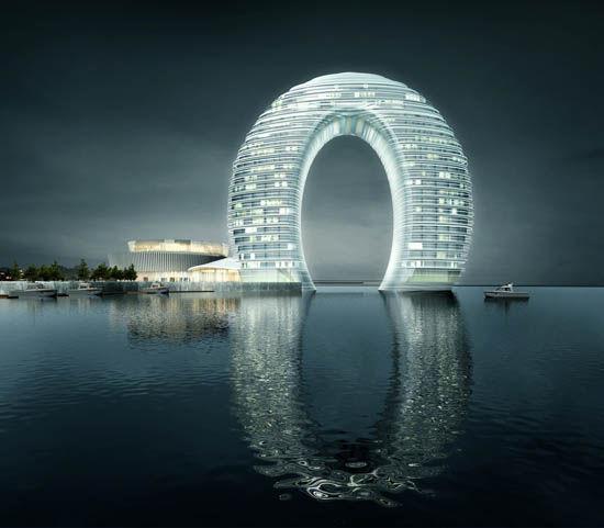 组图:年度奇葩建筑展 辽宁抚顺生命之环