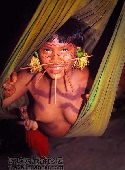 赤身裸体印第安部落