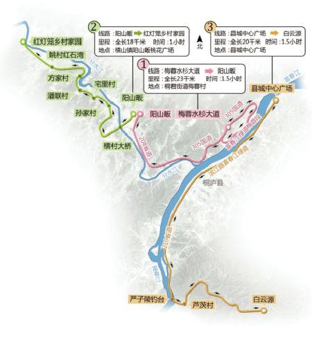 桐庐骑行线路图