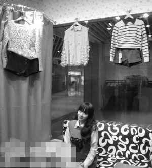 两个90后女孩下沙开无人营业女装店(附图)