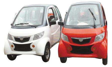 两辆四轮电动车因无牌无证被交警查扣 组图高清图片