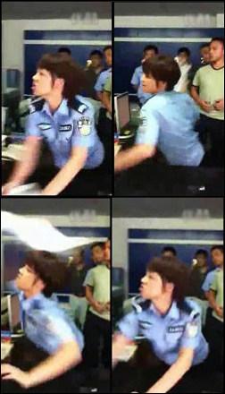 """江西修水""""发飙女警""""被辞退 警方称系聘用人员"""