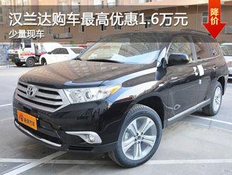 台州汉兰达购车最高现金优惠1.6万