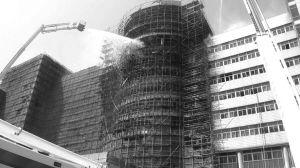北仑政法大楼着火