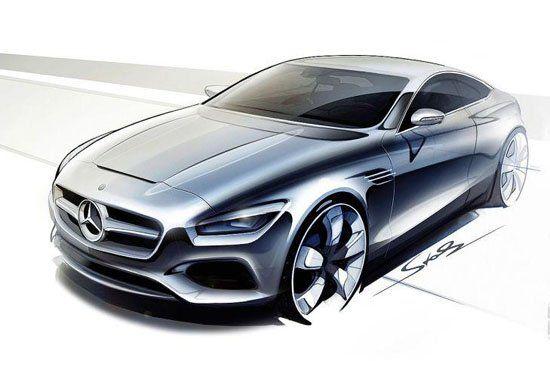 奔驰全新s级coupe设计草图