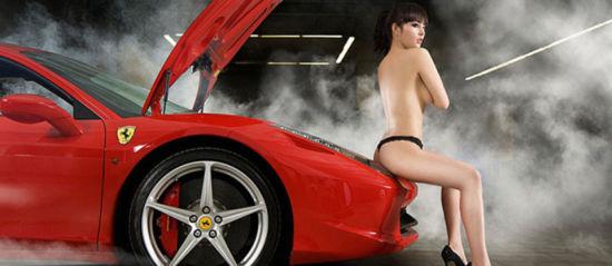 挑战底线 车模车内大尺度裸照盘点(图)