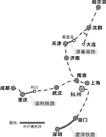 据沈阳当地媒体报道,沈阳铁路局证实,连接天津与秦皇岛的津秦高铁