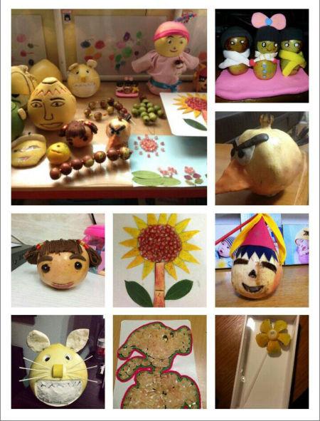 可爱柚子手工作品