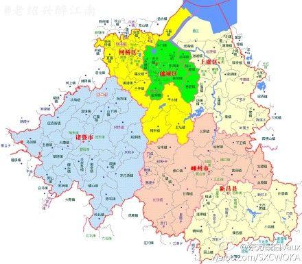 绍兴越城区地图