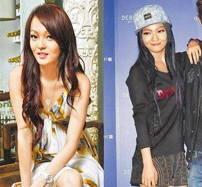 张韶涵早前(左)与现在(右)的样子对比