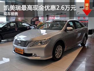 台州凯美瑞购车最高现金优惠2.6万
