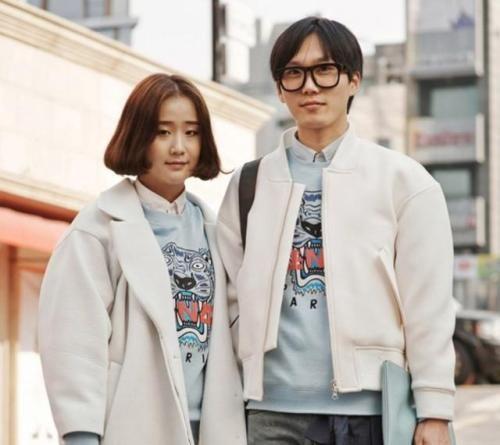 组图:韩流正当时首尔时尚情侣档的穿衣经