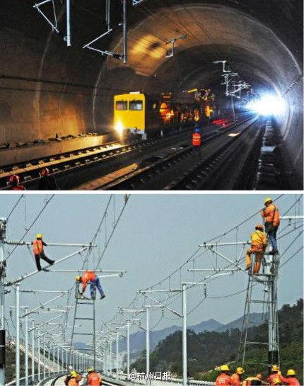 杭长高铁今年12月将具备通车运行条件(图)