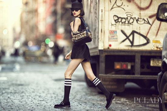 超模挑战街头时尚高街也能很大牌(组图)