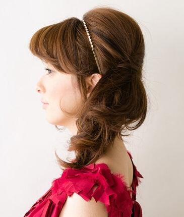 中长发怎么扎好看 侧边扎发显优雅(组图)