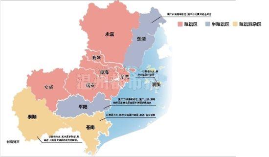 温州方言共分三大区域