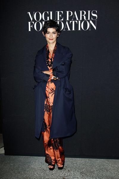 奥黛丽·塔图出席Vogue巴黎基金会晚宴