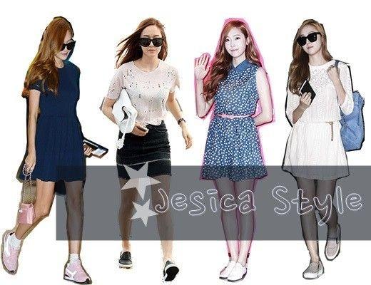 少女时代Jessica机场装搭配技巧(图)
