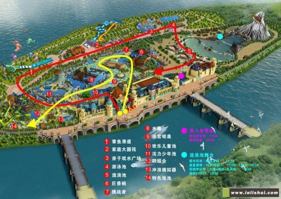 """""""冒险岛水世界""""拥有18台套游乐设施设备,其中有专为年轻人打造的惊险"""