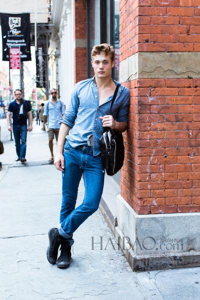 纽约时尚日记:街头的型男(组图)