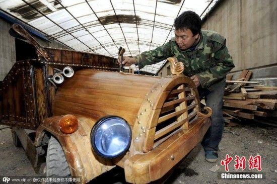 自制木质电动车