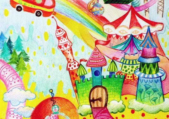 《我的童话王国》少儿绘画大赛图片