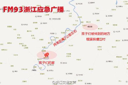 浙江浦江地图各乡镇