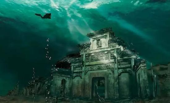 千岛湖水下古城掠影