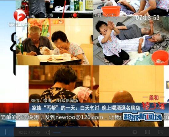视频:职业乞丐家族揭秘 白天乞讨晚上吃大餐
